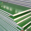 El panel prefabricado de acero de la azotea del emparedado de la PU de las casas