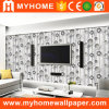 Papel de parede da sala de visitas 3D do PVC da alta qualidade para a decoração da parede interior