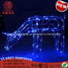 LED Blue Twinkling Frame 2D 68cm Reindeer Christmas Light Motif Light Décoration de Noël