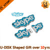 Presentes Customerized Skype Shaped PVC USB Flash Drive (YT-SP)