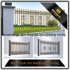 Frontière de sécurité en aluminium de jardin enduite par poudre décorative extérieure en métal de moulage