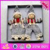 2017 Nouveaux produits Baby Cartoon poupées en bois de Noël pour les filles W02A230