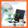 16 '' CA Rechargeable Fan del basamento 12V con Solar Panel