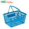Paniers de magasinage en plastique à poignée double