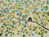 Zwei Birds Ölgemälde auf Canvas Handmade 100% Wall Image (LH-051000)