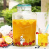Vaso di vetro di immagazzinamento in di vendita di frutta il vaso caldo del succo con l'articolo da cucina del coperchio di sigillamento