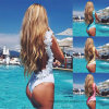 2017 faßte die neue Dame-Blume einteiligen reizenden Bikini ein