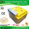 Incubateur bon marché d'oeufs de poulet de certificat de la CE de qualité de garantie de 1 an pour 96 poulets (KP-96)