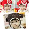 Шлем младенца вязания крючком настолько симпатичного цветка w шлемов младенца Handmade