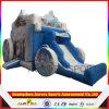 Castillo Tipo y material de PVC inflable congelado diapositiva con el castillo de rebote, inflable Moonwalk con diapositivas en seco