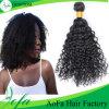 Выдвижение человеческих волос Remy естественного черного цвета перуанское