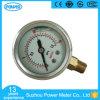 indicateur de pression rempli demi par liquide de bas d'acier inoxydable de 1.5inch-40mm