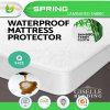 冷却の夏の緑のテリーの防水タケマットレスの保護装置
