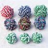 Bolas acogedoras del animal doméstico de las pequeñas de los gatos del juguete del animal doméstico de la cuerda bolas del perro