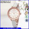Fabrik-klassische beiläufige Quarz-Dame-Armbanduhr (Wy-043F)