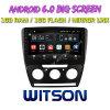 Witson gran pantalla de 10,2 de Android 6.0 alquiler de DVD para Volkswagen Skoda Octavia (MANUAL A/C) 2010-2014