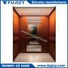 Elevación del elevador del pasajero con la cabina de madera