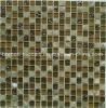 Mattonelle di mosaico quadrate di vetro del reticolo della pietra piena dello strato per il disegno delle mattonelle del balcone della cucina