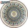 자유로운 작풍 대리석에 의하여 저며지는 피스에 있는 모자이크 큰 메달 패턴