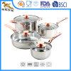 Copper-Coloredハンドル(CX-SS0802)が付いている18/10組のステンレス鋼8 PCSの調理器具セット