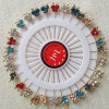 30 parties décoratives de guindineau d'écharpe musulmane en cristal colorée de tête de Pin droit de Hijab