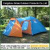 3-4 do piquenique ao ar livre de duas histórias da pessoa barraca de acampamento de vida