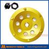 PCDのダイヤモンドの床のための粉砕のコップの車輪、セグメント化されたDisをひくPDCのコップ