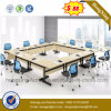 Mesa de reunión de conferencia de oficina de melamina de color blanco (NS-CF013)