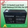 Np7-12 de Plomo-ácido de batería AGM (12V7Ah) para UPS
