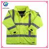 100%Polyesterトリコットの長い袖の安全ベストの高い可視性の反射衣類