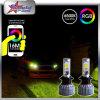 차 부속품 최고 밝은 H4 H7 9005 Bluetooth Control LED 안개 램프에 의하여 9006 H13 차 헤드라이트 옥수수 속 칩 RGB 색깔