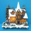 Decoratie 11 van Kerstmis van de hars de '' Aangestoken Kerstboom van de Kerk van het Koor rond met Adapter