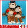 견면 벨벳 원숭이 장난감의 연약한 발렌타인 데이 선물