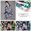 Peça de vestuário de moda de poliéster impresso digital e casa de tecidos têxteis