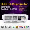 alta calidad de 3LCD 3LED mini proyector de 3000 lúmenes