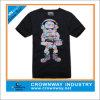 Cutet-Рубашка людей черная с подгоняет печатание
