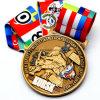 주문을 받아서 만들어진 리본을%s 가진 가장 새로운 관례 3D 금속 메달