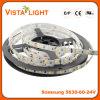 24V flexível que ilumina tiras brilhantes da luz do diodo emissor de luz para clubes de noite