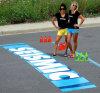 Decalcomanie provvisorie su ordinazione del pavimento ed autoadesivi esterni del pavimento dei segni del pavimento