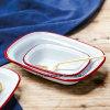 Квадратной пластины/ эмаль маслом пластины и посудой посуда инструменты для выпекания пиццы блюдо