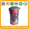 Stagno rotondo chiuso ermeticamente rotondo del tè con il commestibile