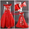 Vestido de partido do fora-Ombro/vestido de casamento (L-55)