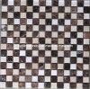 크림 Marfil 및 Dark Emperador Marble Mosaic Tile (HSM119)