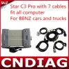 Mb Star C3 PRO con 7 Cables Fit All Computer per Benz Cars e Trucks