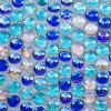 ガラスモザイク床タイルの浴室