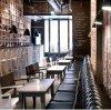 (SD3017) het Moderne Meubilair van het Restaurant met Eettafel en Cabine Chesterfiled