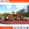 Attractivepreschoolの屋外の木の子供の運動場のスライド(HD-MZ039)