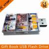 De Aandrijving van de Flits van de Giften USB van de Vormen van het Boek van het Embleem van de douane (yt-1142)