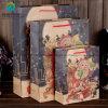 2018 ha personalizzato il sacco di carta riciclato Kraft del Brown per il regalo impaccante di natale con la corda del ciclo