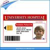 Carte estampée d'identification d'élève de PVC